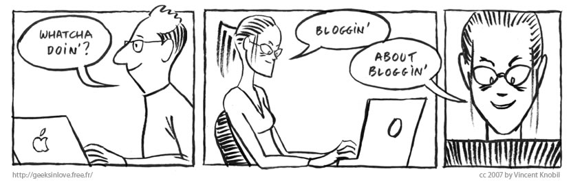 Geeks In Love, Episode 1, Bloggin, by Vincent Knobil.
